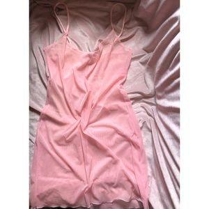 VTG : 1990's posh baby spice girls pink mesh slip